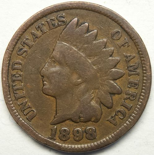 1898 P Indian Head Cent #43
