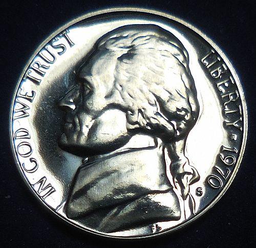 1970-S Jefferson Nickel Proof Strike