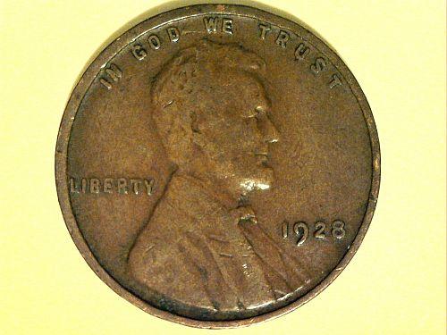 1928 P Lincoln Cent--Fine