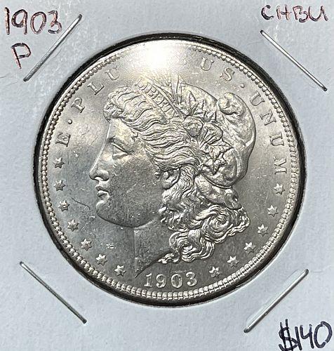 1903-P High Grade Choice BU/MS+++ Morgan US Silver Dollar