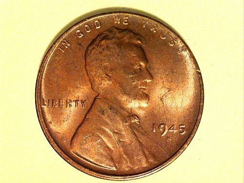 1945 S Lincoln Cent--AU-Uncirculated