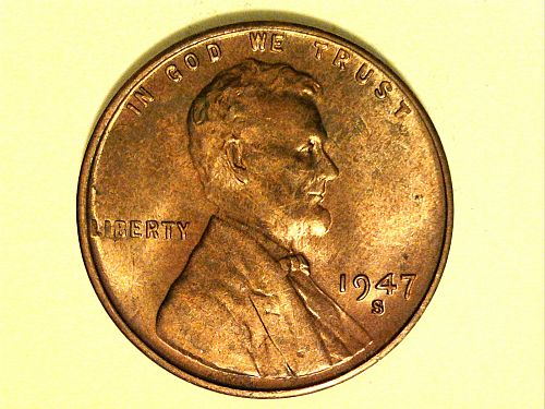 1947 S Lincoln Cent--Uncirculated