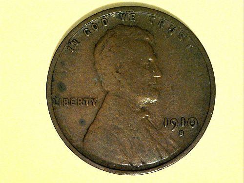 1910 S Lincoln Cent--Fine