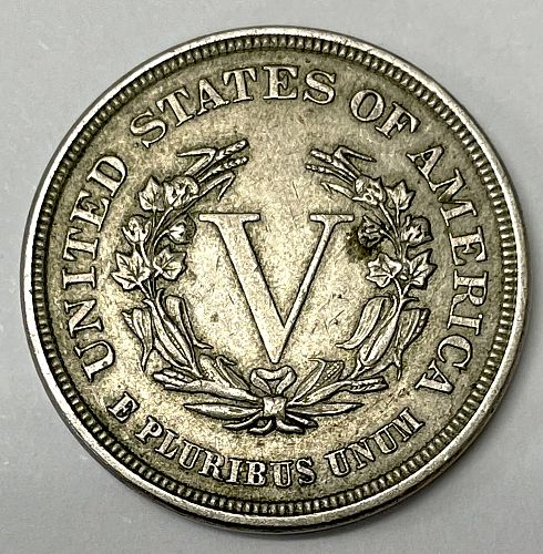 1883 Liberty Head V Nickel - No Cents - Cleaned