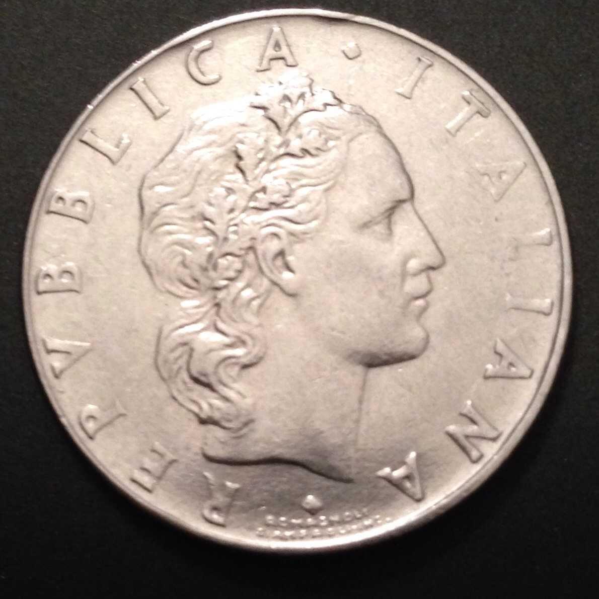 English To Italian Translator Google: 1963 50 Lire R Italian Coin