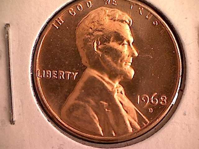 1968 D Lincoln Memorial Penny