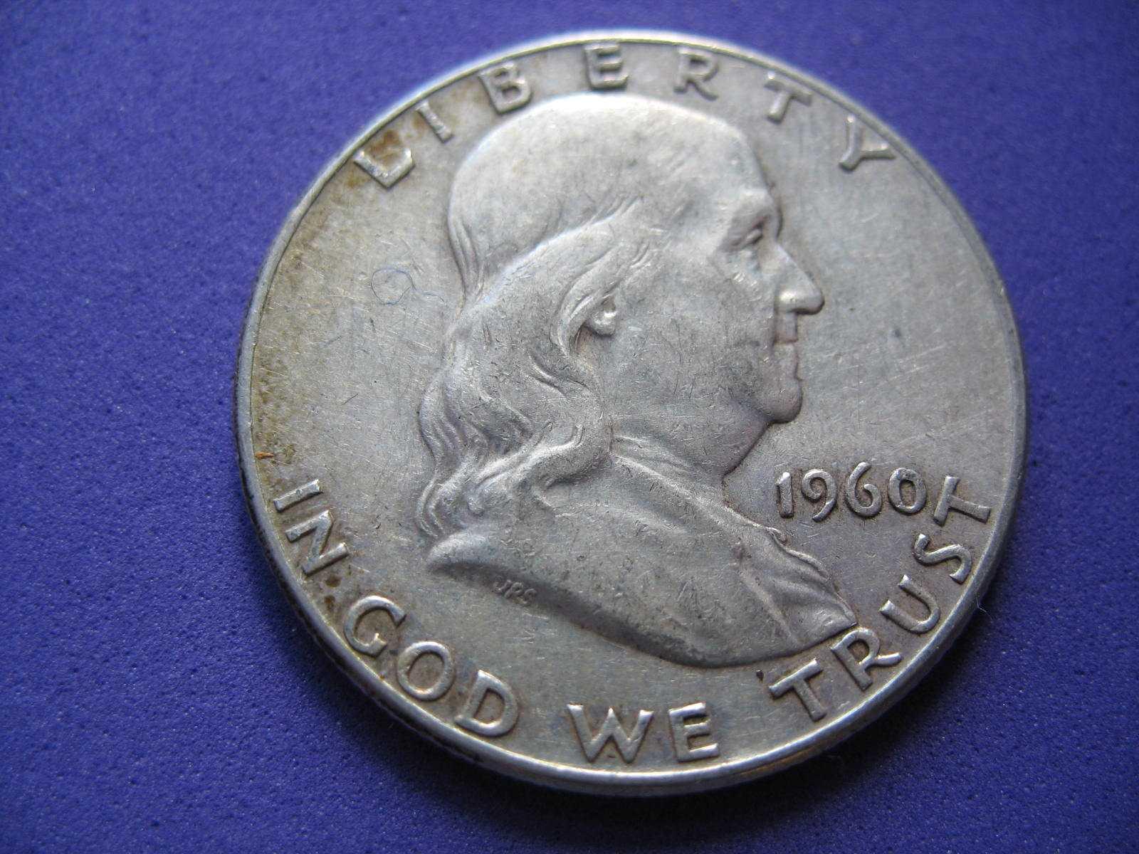 1960 P Franklin Half Dollar 90 Silver Circulated