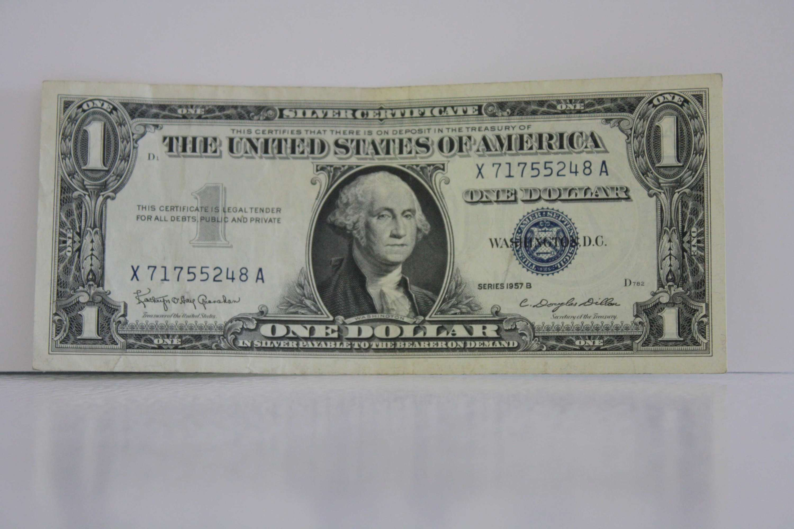 1957 b one dollar silver certificate for sale buy now online 1957 b one dollar silver certificate xflitez Images