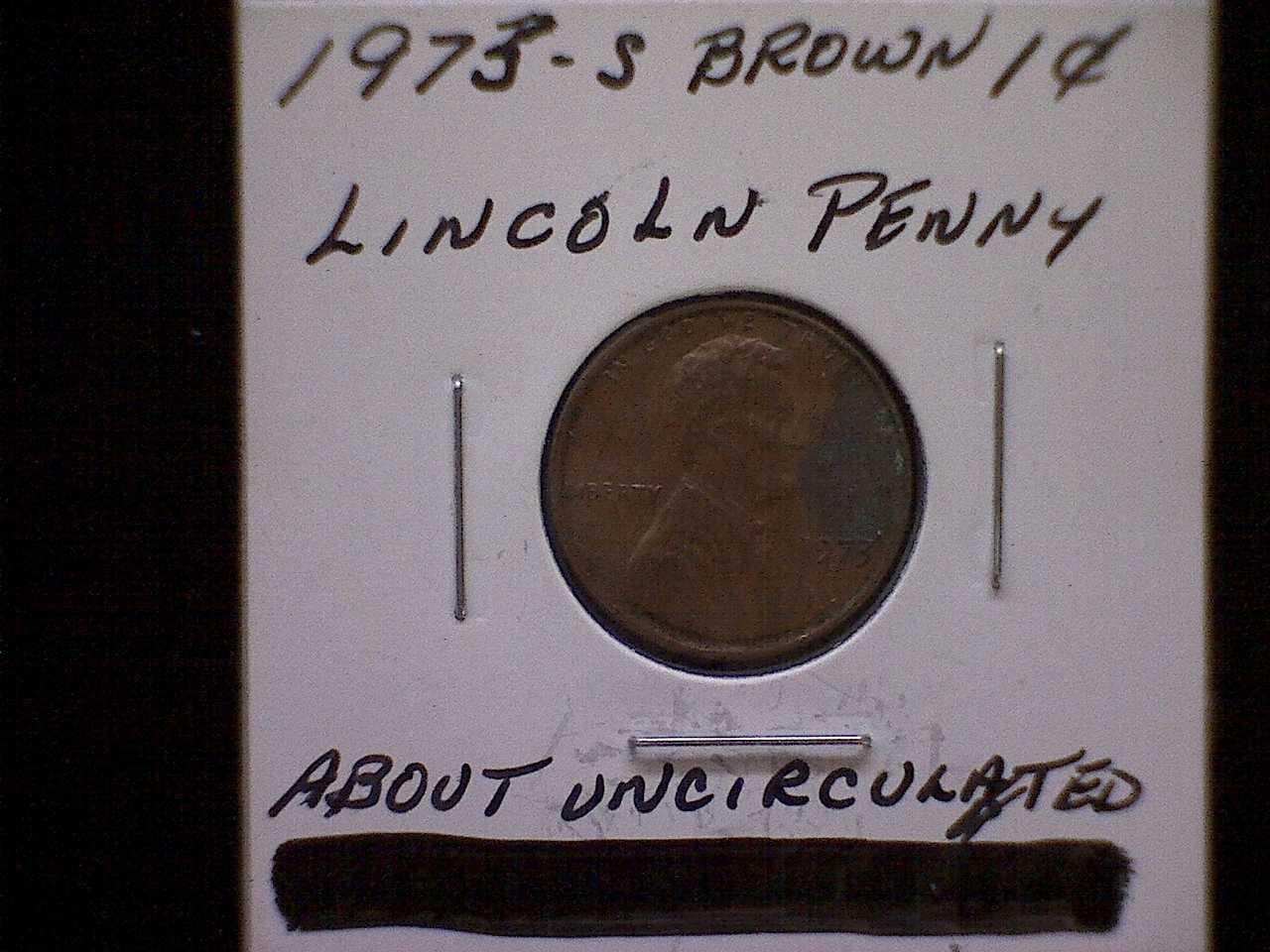 1973-S LINCOLN MEMORIAL PENNY