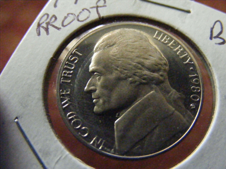 1980 S Cameo Proof Jefferson nickel