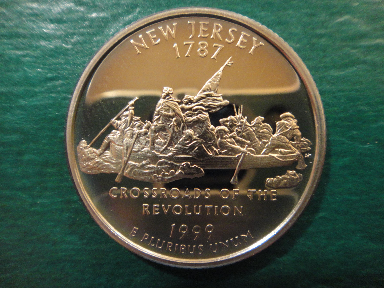 1999-S New Jersey State Quarter Clad Gem Proof Deep Cameo