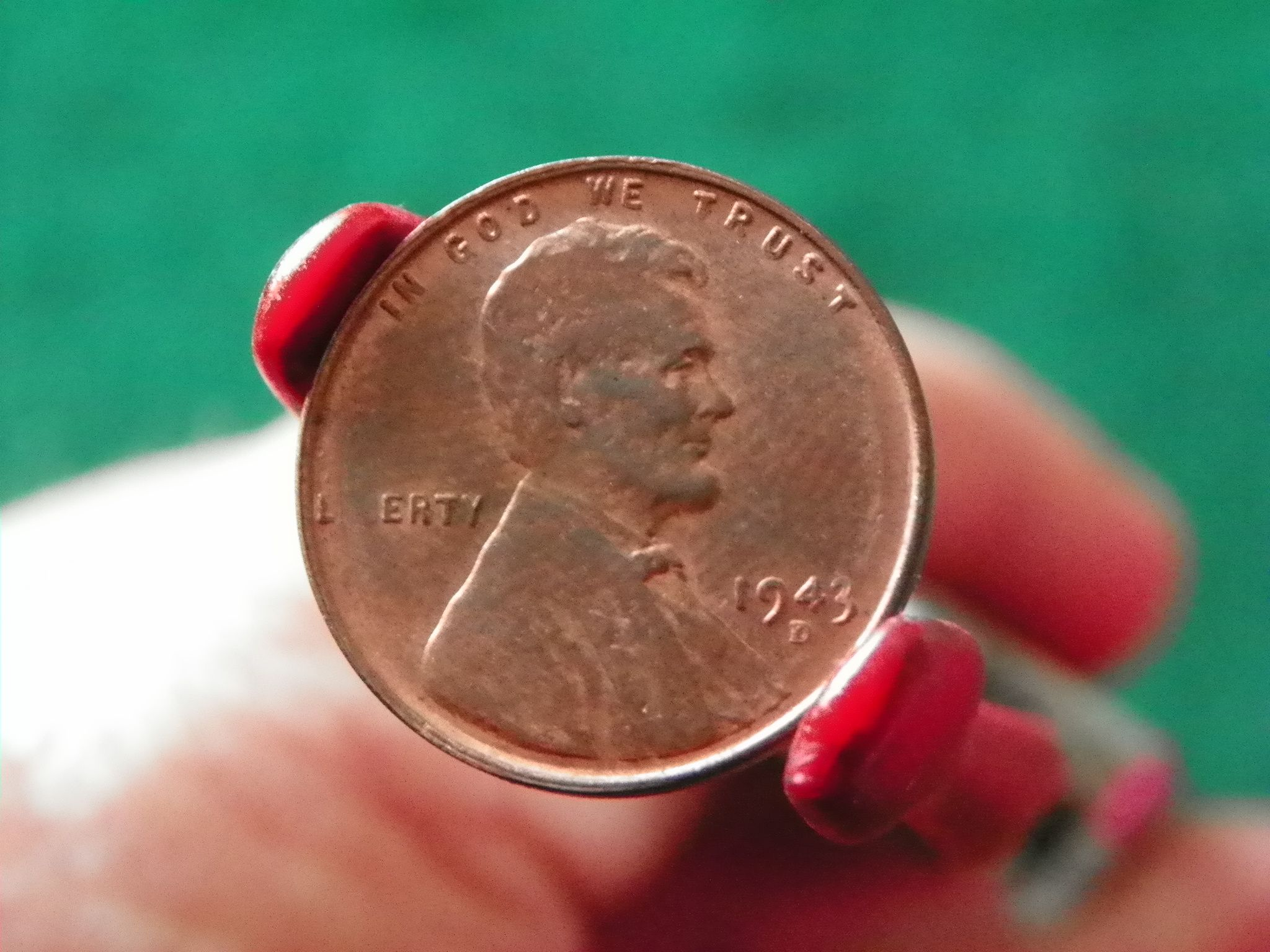 1943 D Copper Lincoln Wheat Cent Copy Stamped On Reverse For Sale Buy Now Online Item