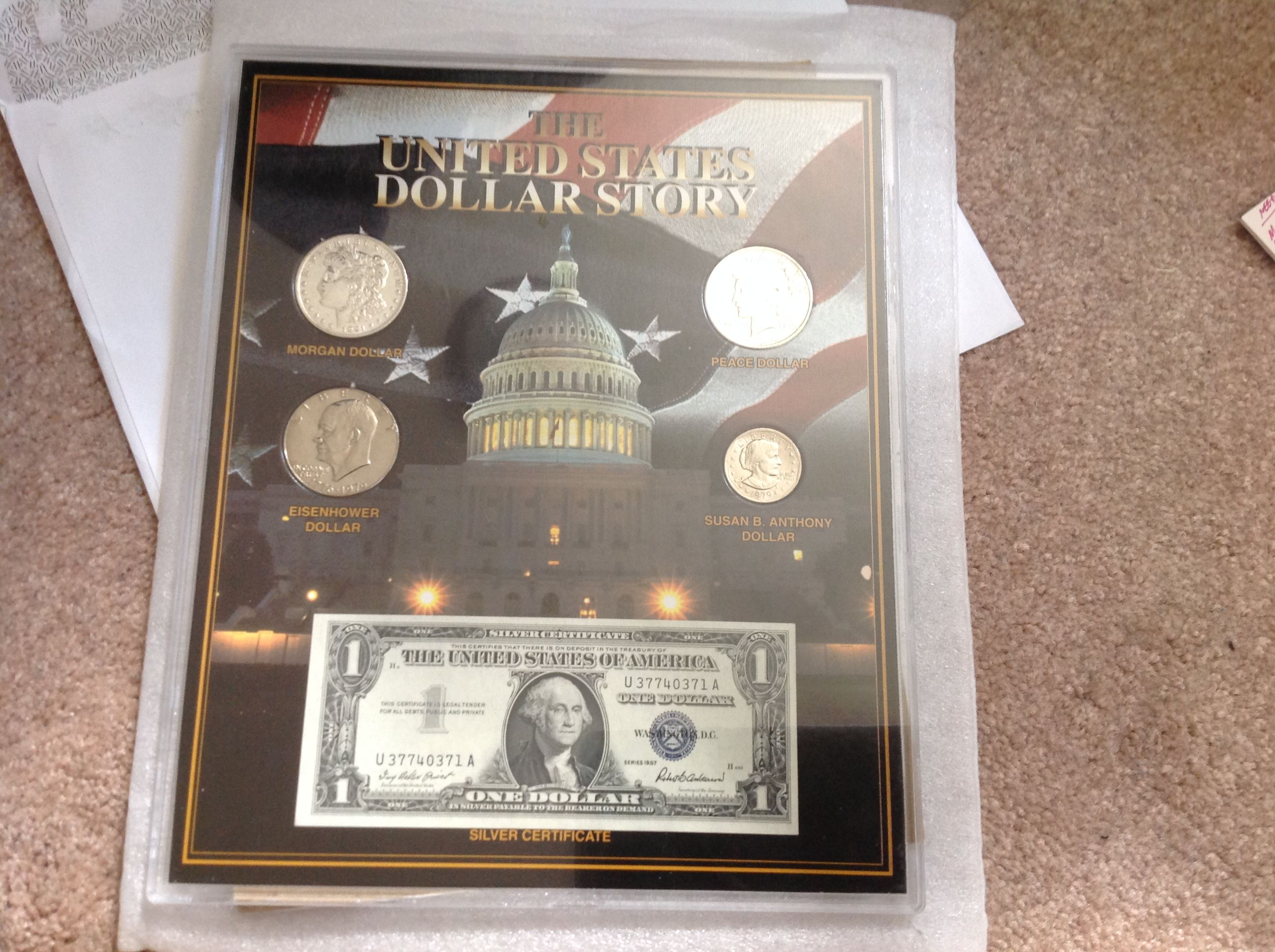 The United States Dollar Story. Framed SSCA Certified. - for sale ...