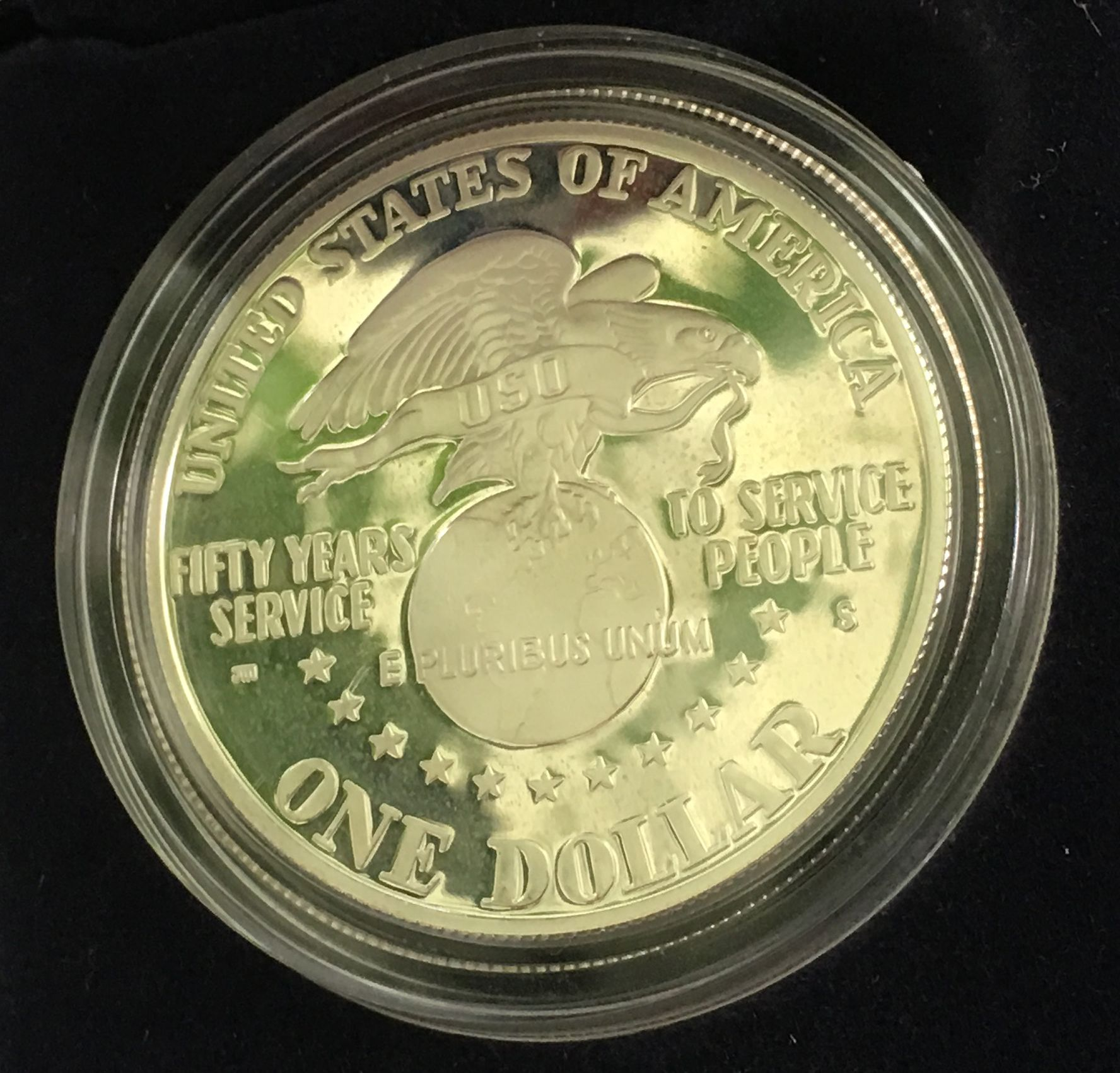 1991 S United Service Organizations Silver Dollar Proof