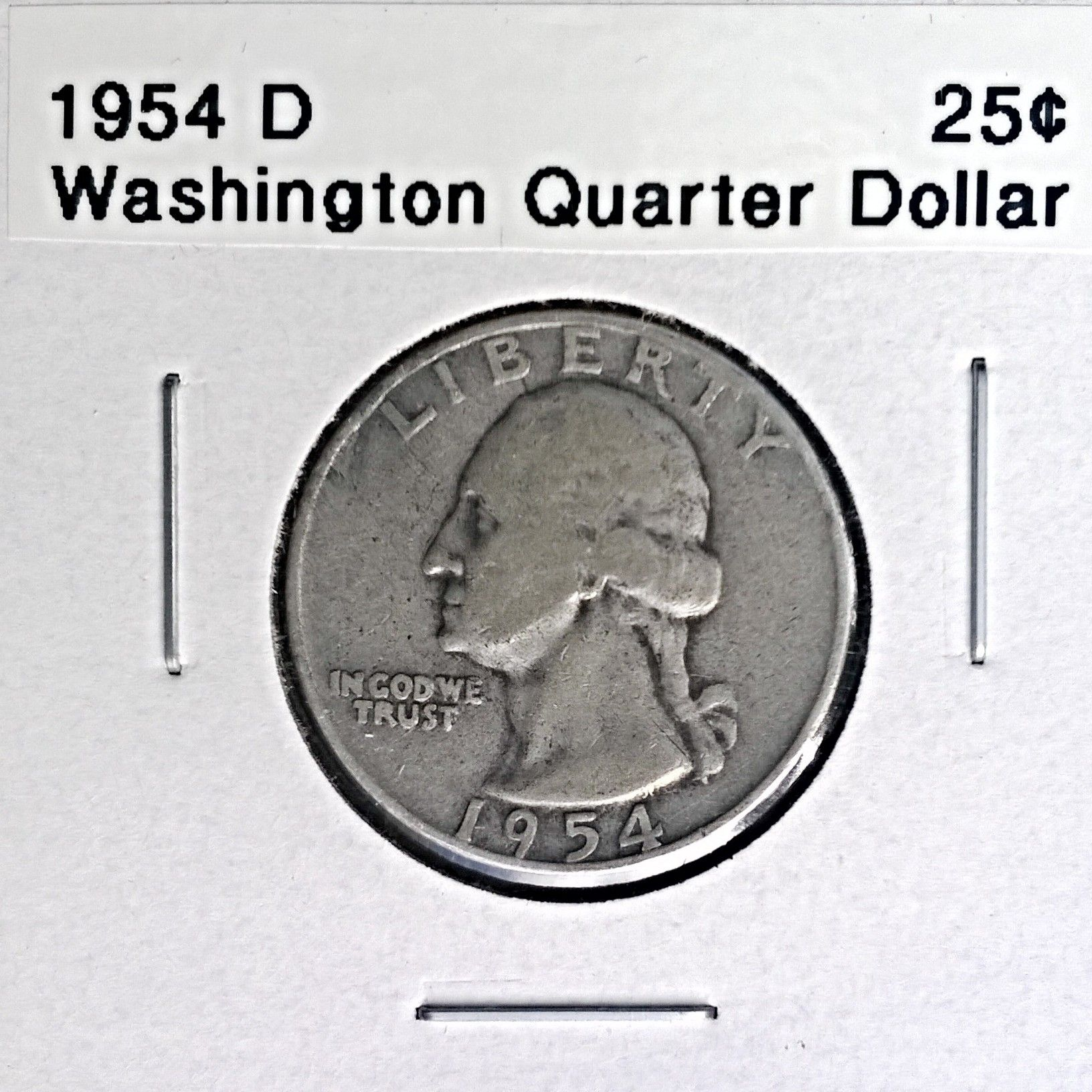 1954 Silver Washington Quarter
