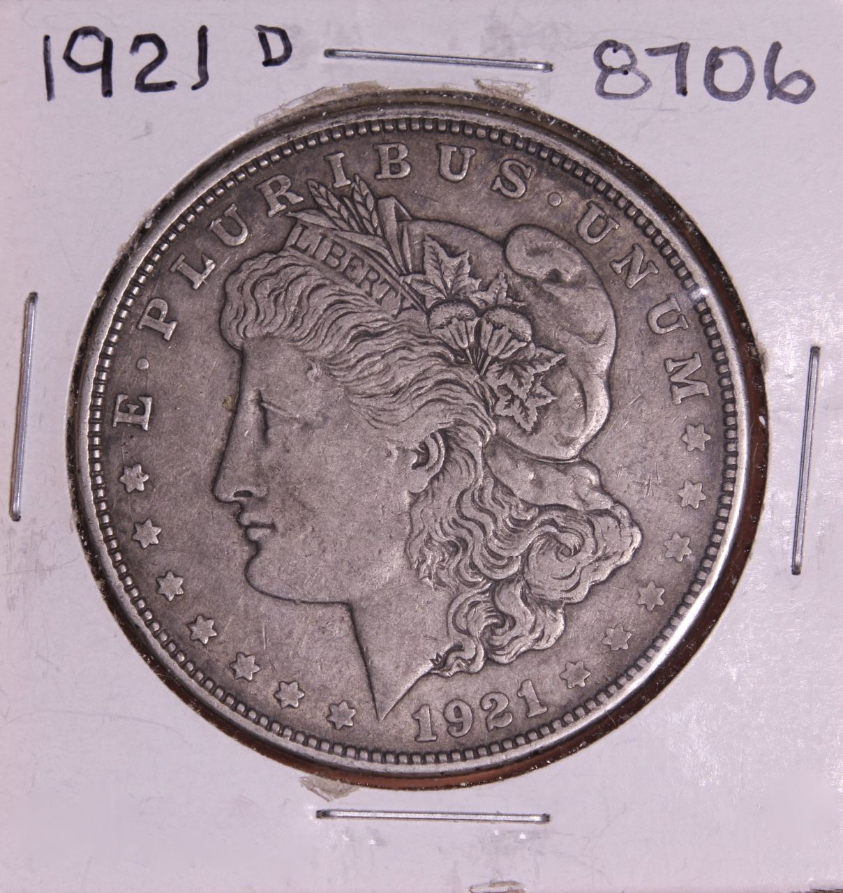1921 D Morgan Silver Dollar 8706 F15 For Sale Buy Now