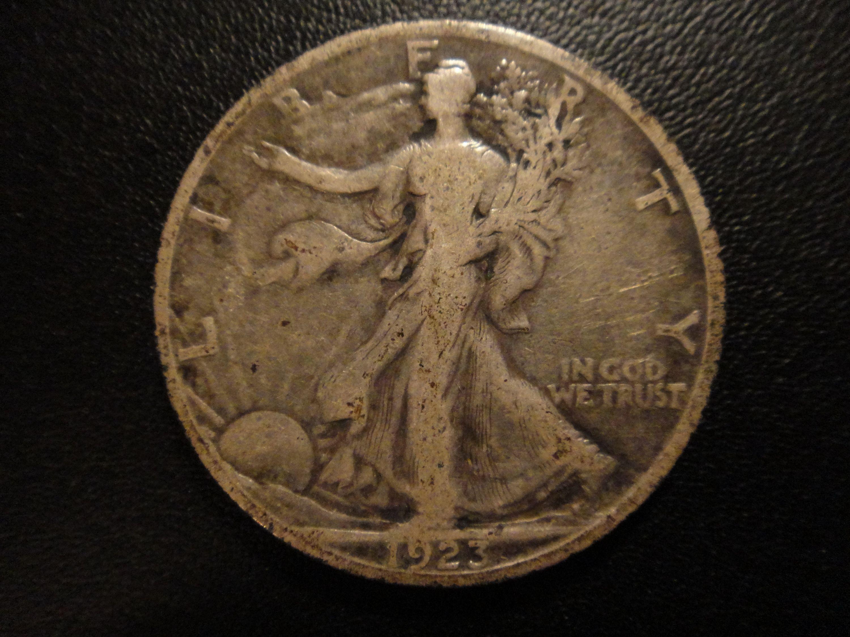 1923 S Walking Liberty Half Dollar Fine 15 Nice Attractive