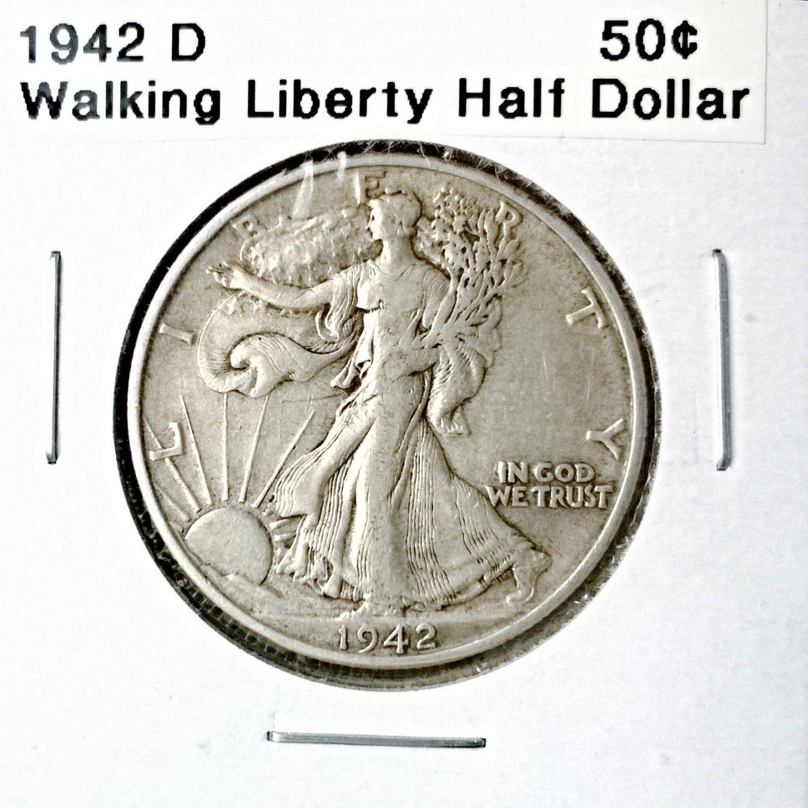 half dollar liberty coin 1942