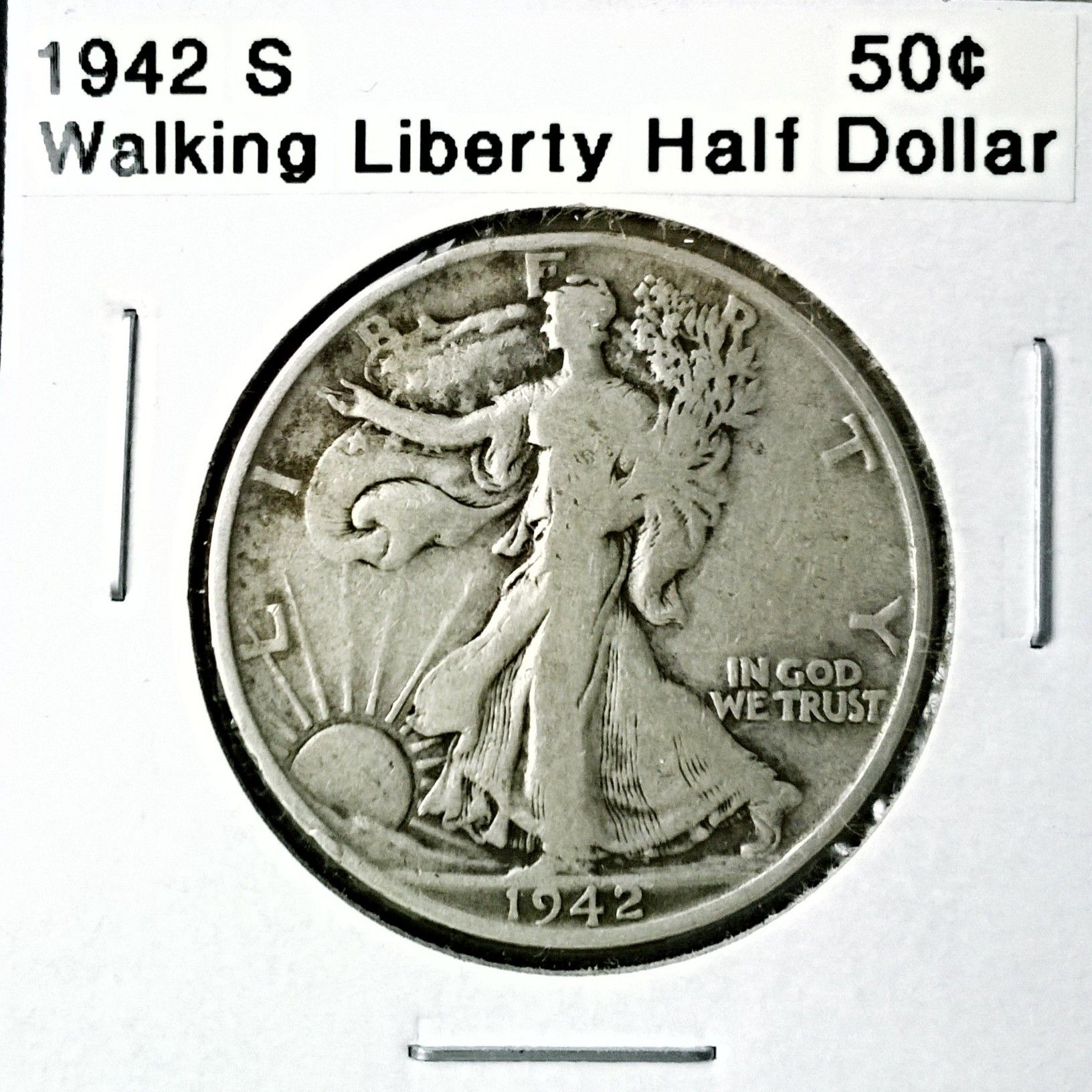 1942 S Walking Liberty Half Dollar For Sale Buy Now