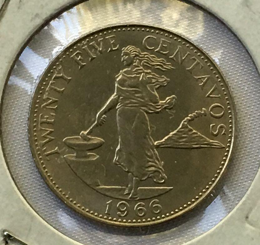 1966 philippines 25 centavos