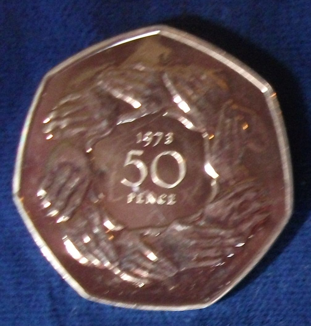 1973 Great Britain 50 Pence Proof