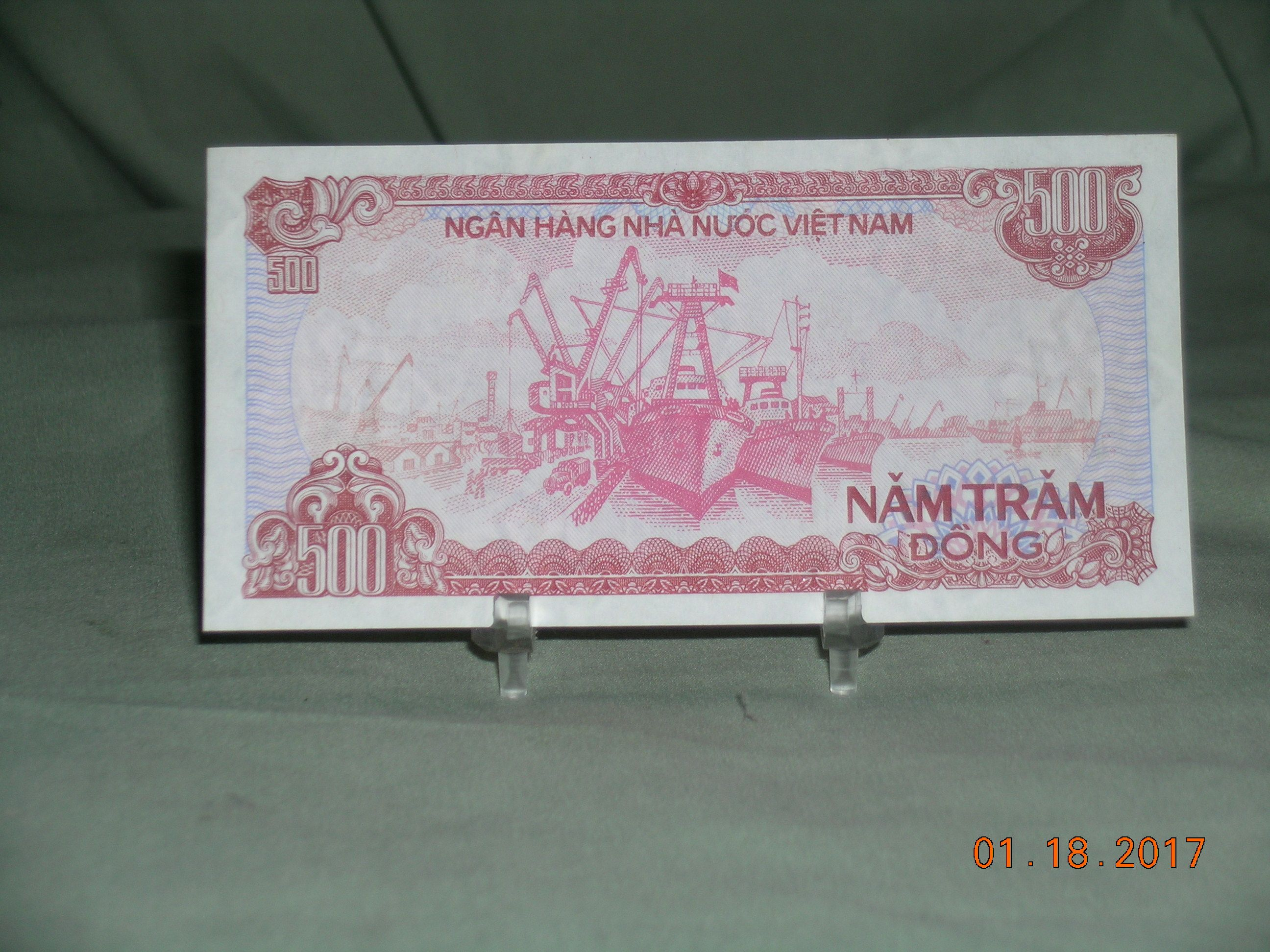 1988 Viet Nam 500 Hai Tram Dong Unc Banknote For Now Online Item 163594