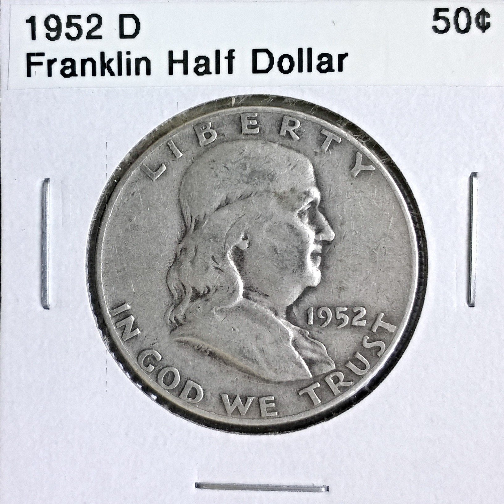 1952 D Franklin Half Dollar 50¢ BU Christmas gift ideas 2018