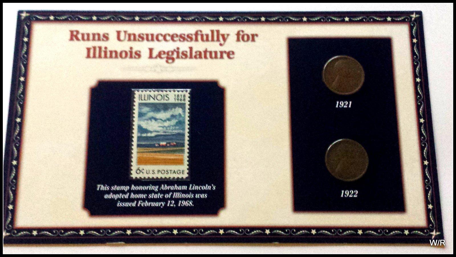 Commemorative Panel: Abe Loses in IL State Race-1921 & 22 Lincoln ...