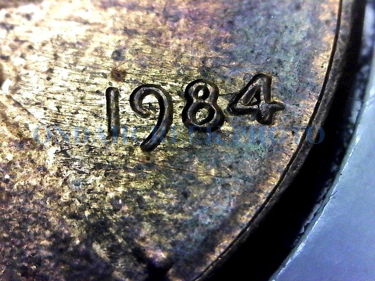 1984 Lincoln Cent Doubled Die Obverse Wexler 009 AU-58 MS-60