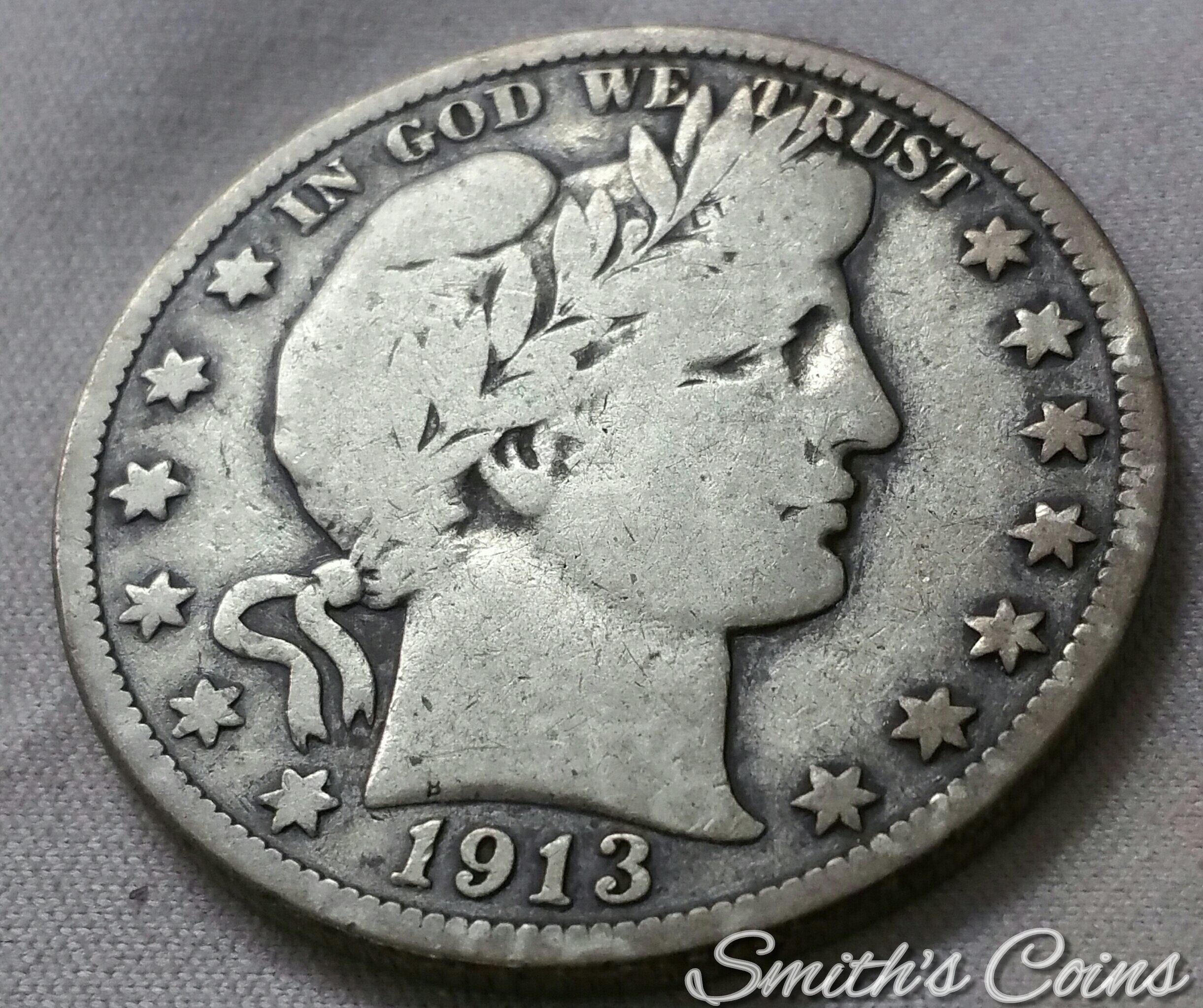 PCGS 1913-P Barber Half Dollar VG10