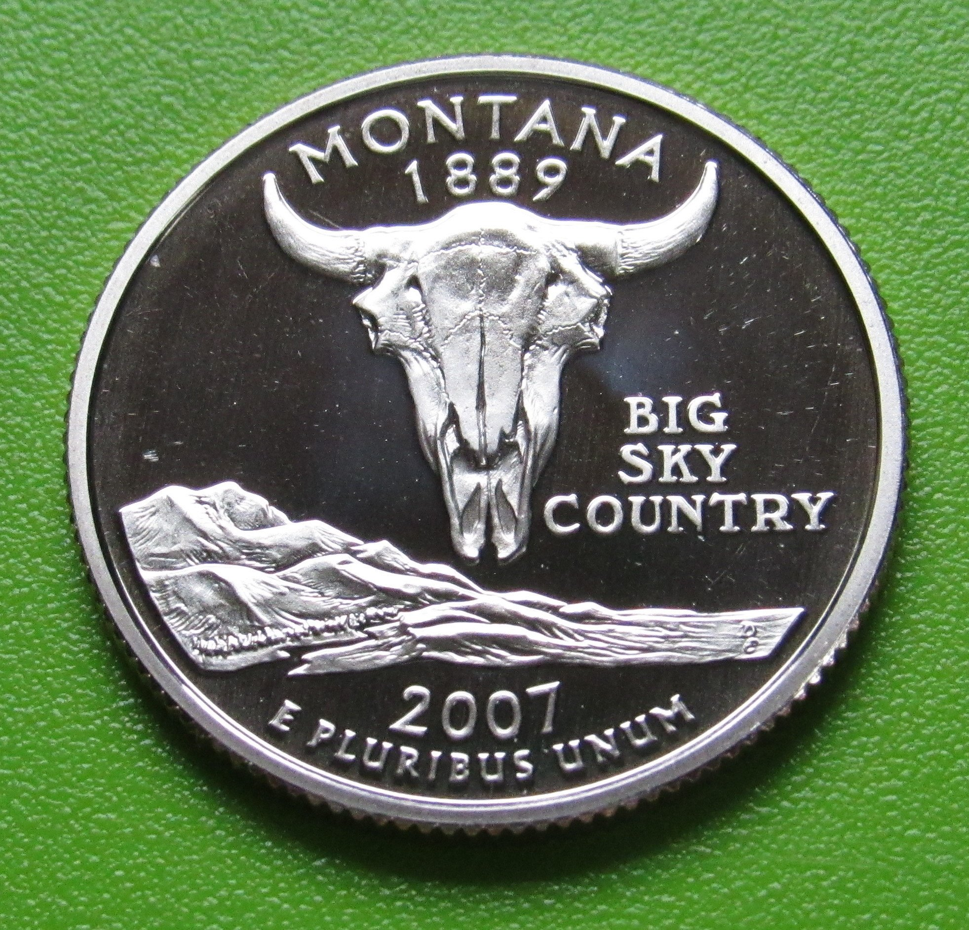 2007 S Clad Montana State Quarter Deep Cameo Gem Proof