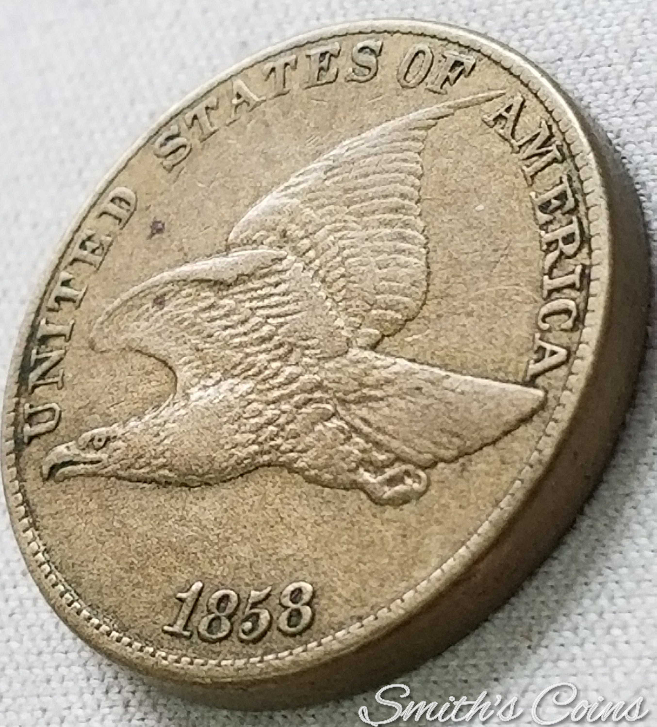 Bronze Letters For Sale 1858 Flying Eagle Cent Large Letters  Vf  For Sale Buy Now