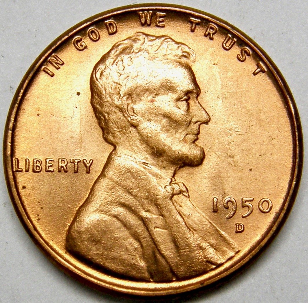 1950-D  LINCOLN WHEAT CENT #3