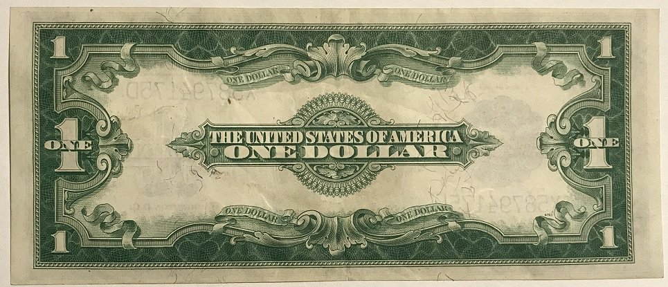 1923 $1 One Dollar Large Bill Silver Certificate - for sale, buy now ...