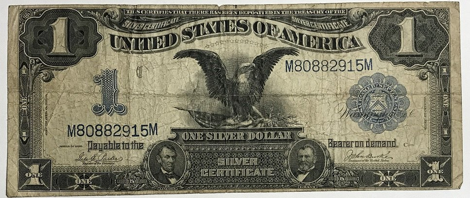 1899 1 One Dollar Large Bill Silver Certificate For Sale Buy Now