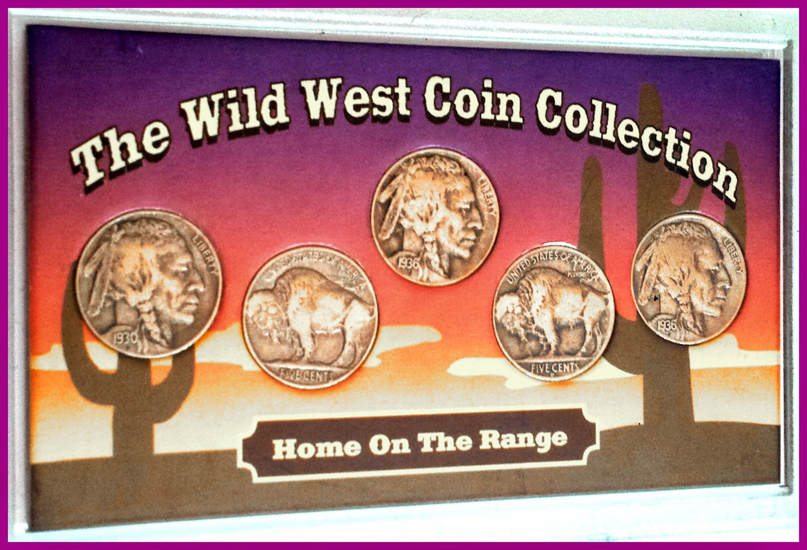 Coin Collection For Sale >> The Wild West 5 Coin Collection 1930 1939 S Buffalo Nickels