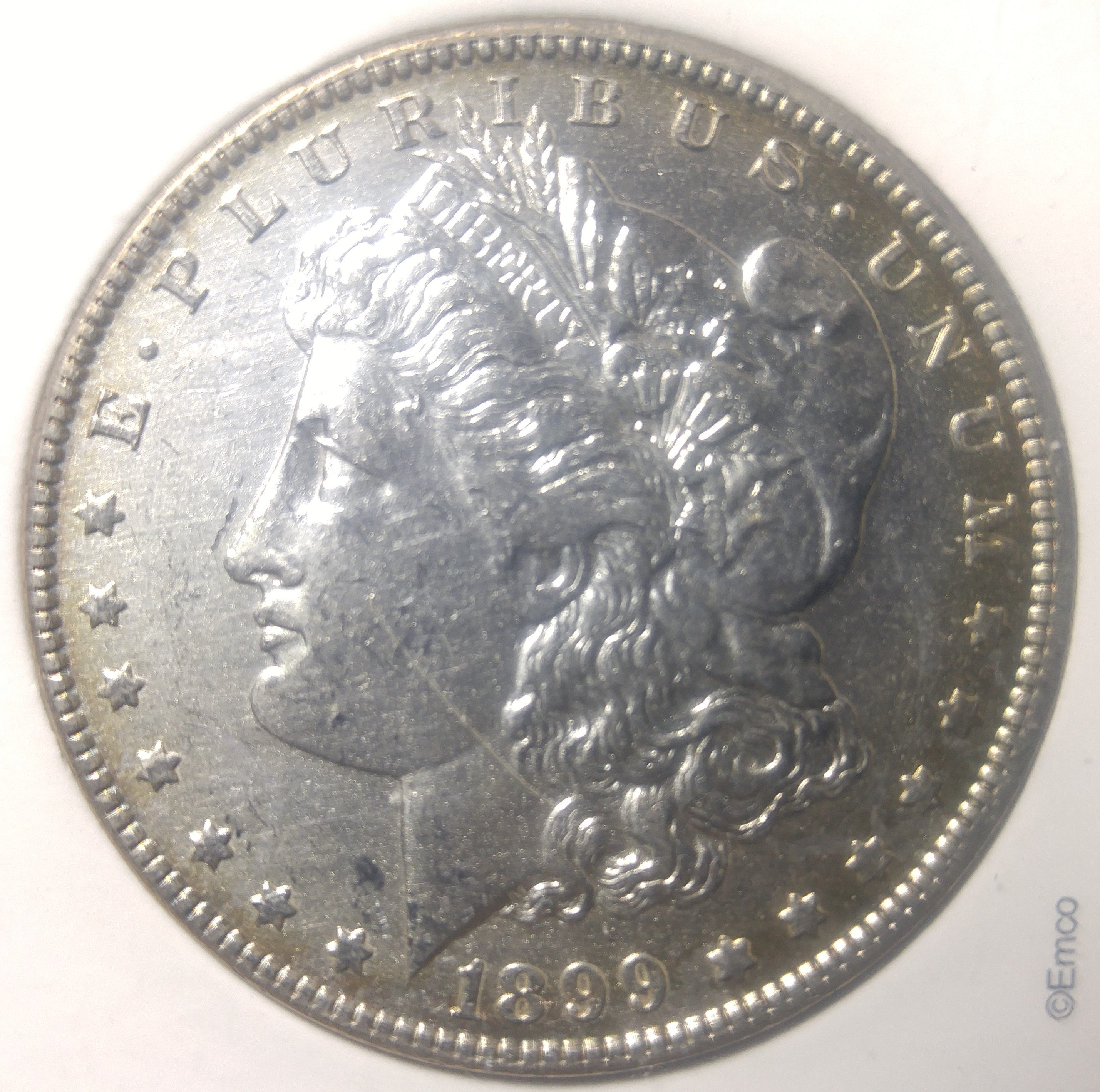 Excellent Detail 1899 O Morgan Silver Dollar In Slab For