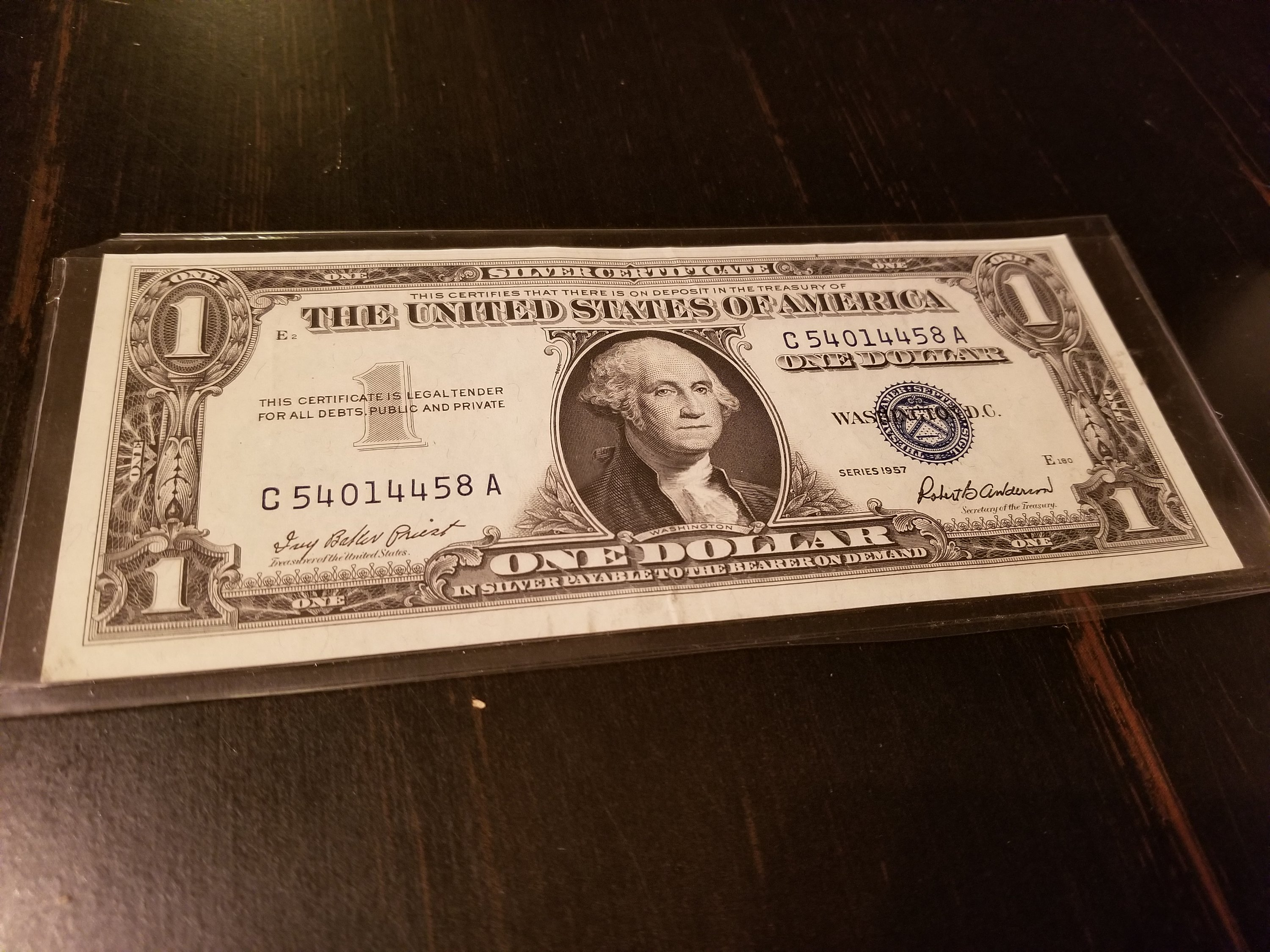 1957 Silver Certificate Note For Sale Buy Now Online Item 235905