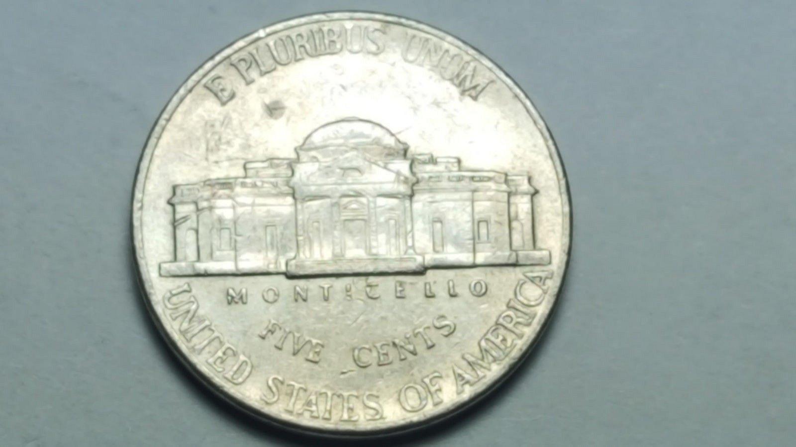 2001 D Jefferson Nickel Obverse & Reverse Double Die Mint Error EF
