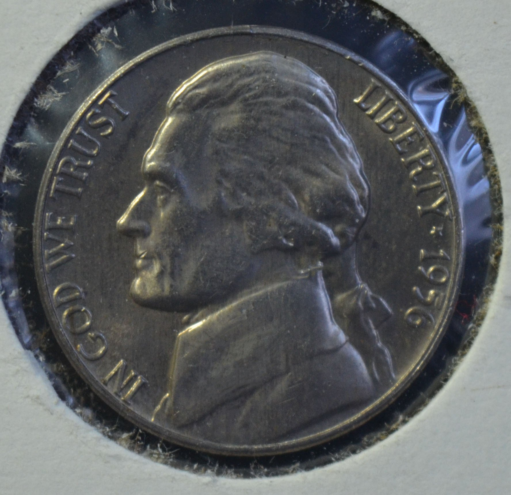 1956 D Jefferson Nickel BU With Steps