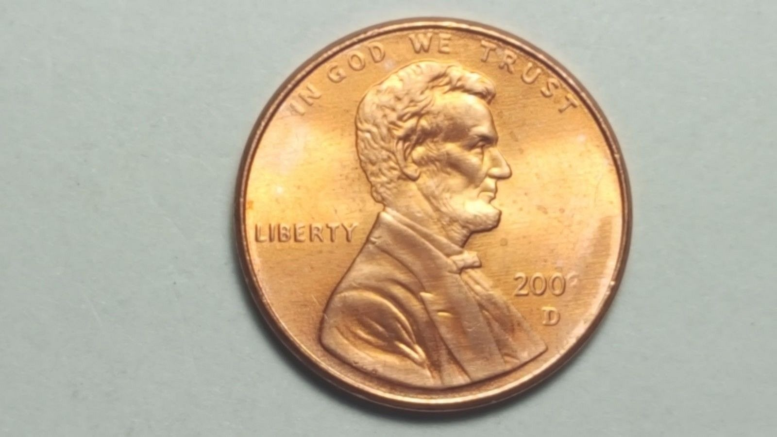 200? D Lincoln Memorial Penny Obverse Missing Date Nice Uncirculated From  Mint s