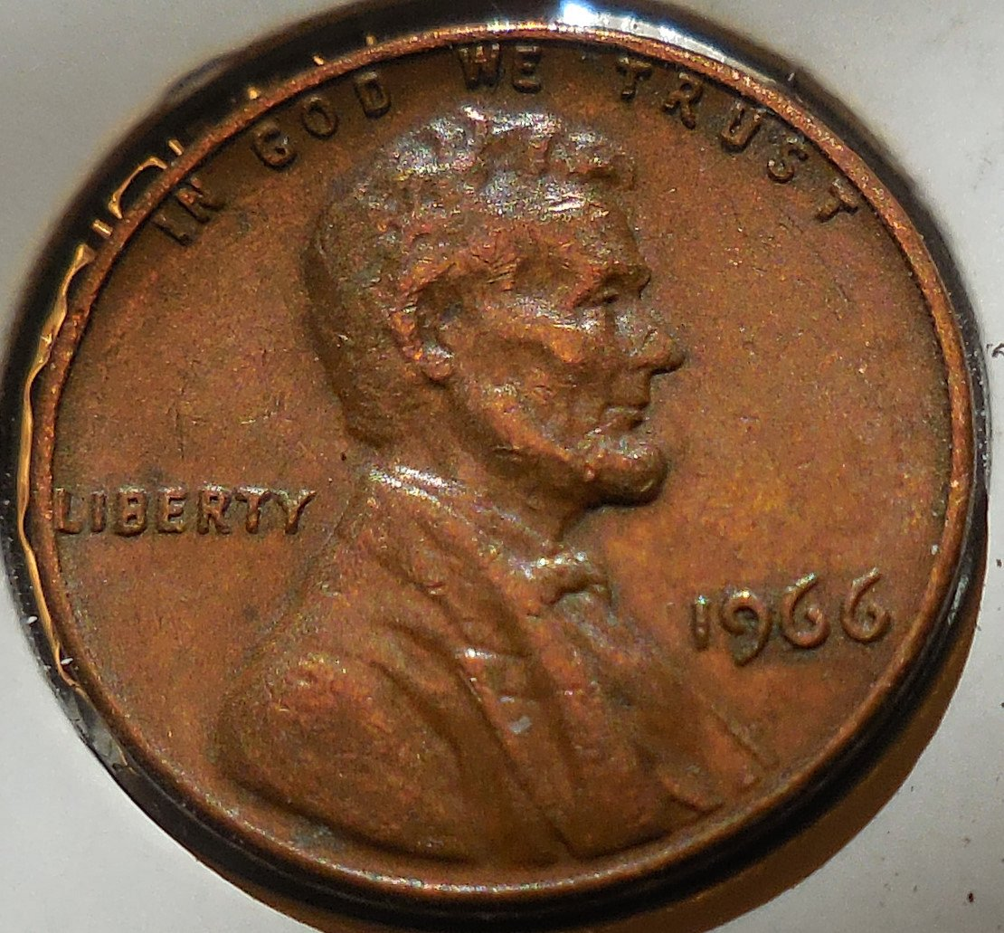 1966 Lincoln Memorial Cent Die Clash