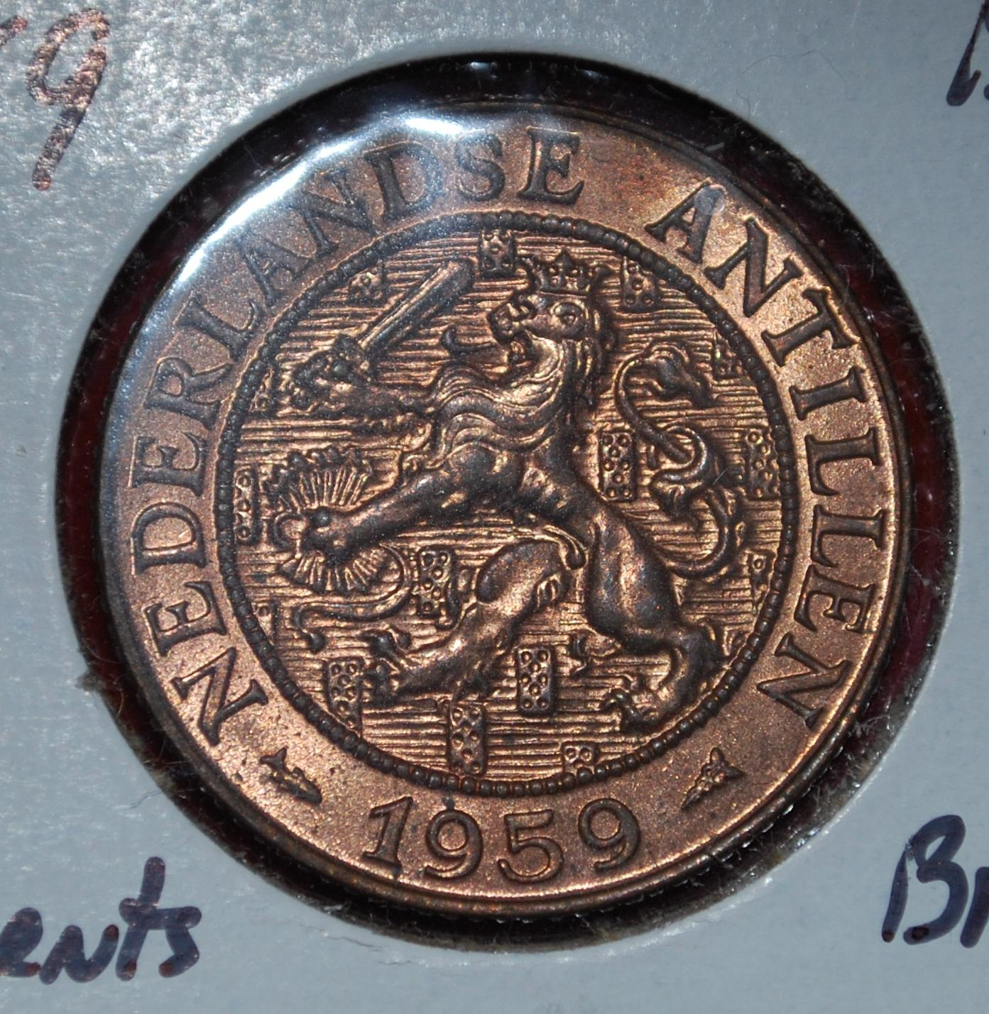 1959 Netherlands Antilles 2-1//2 Cents