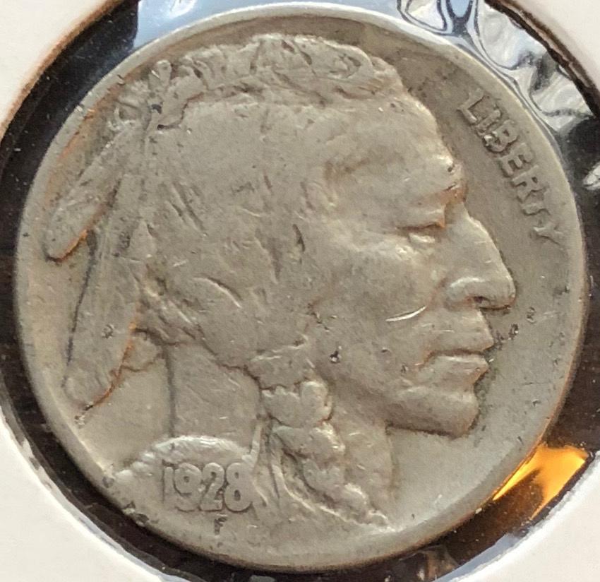 1928 P Buffalo Nickels