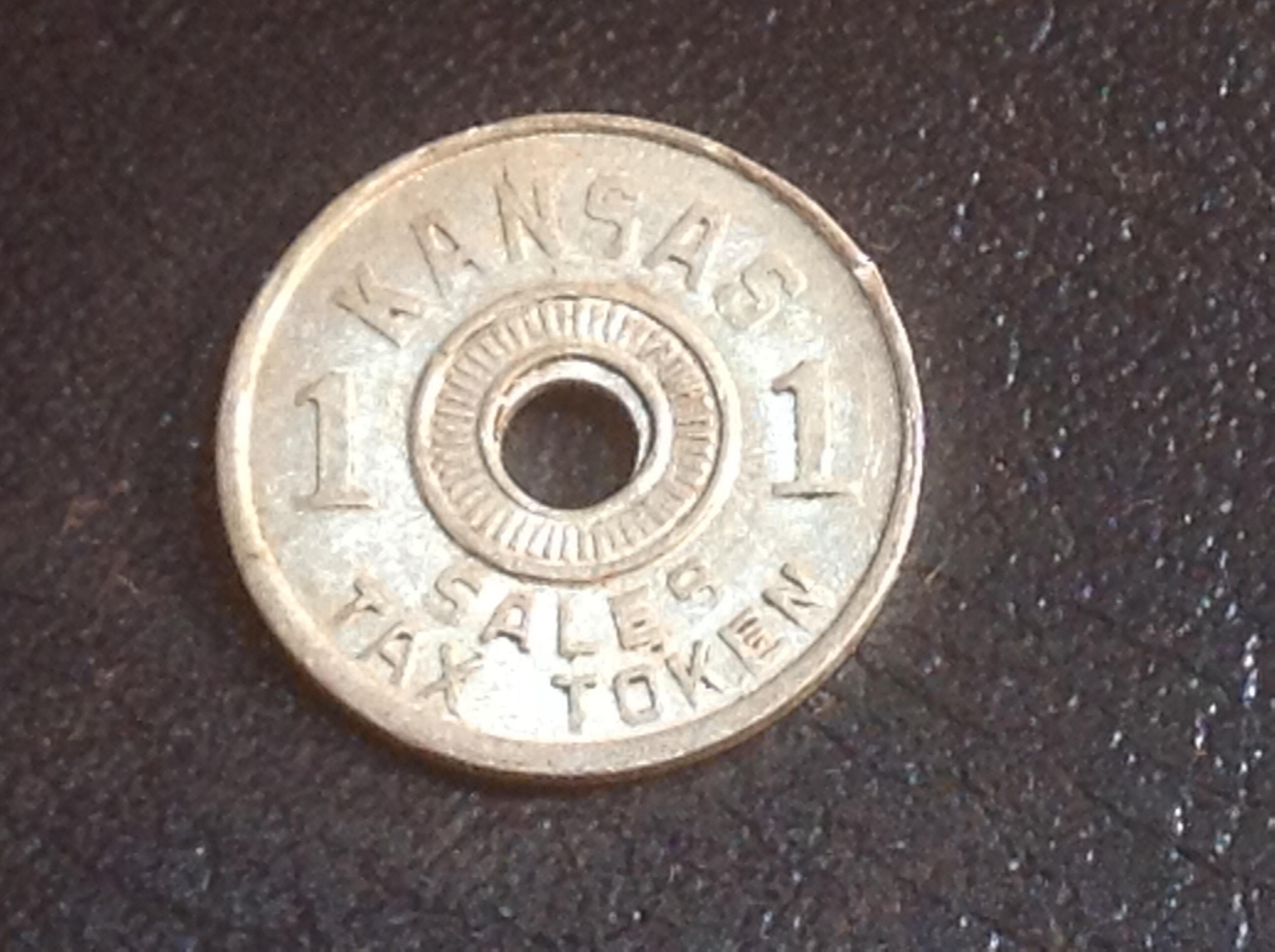 Set of two Kansas Sales Tax 1 /& 2 Mill Tokens