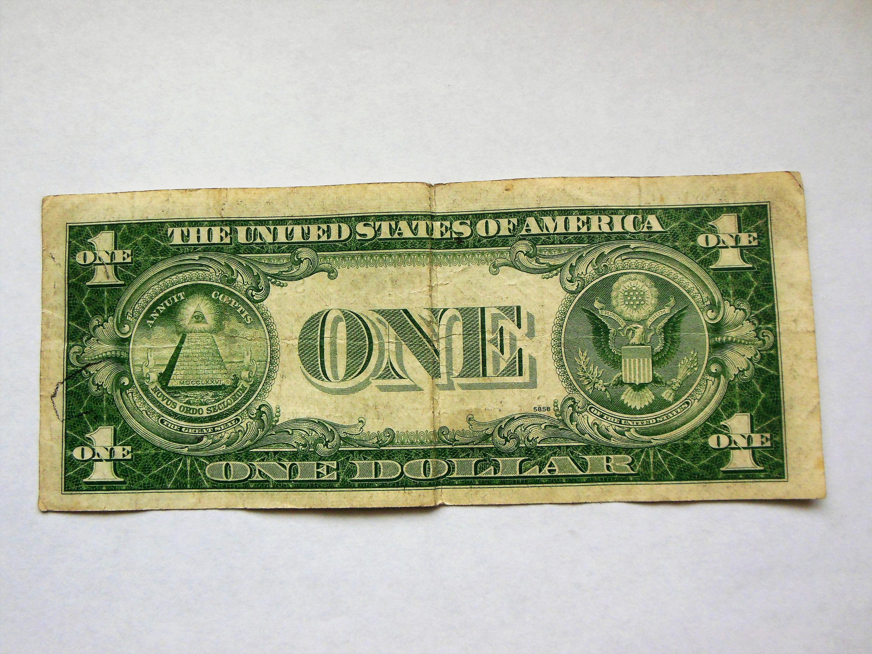 1 1935 E Miscut Off Center Silver Certificate Error Bill For Sale