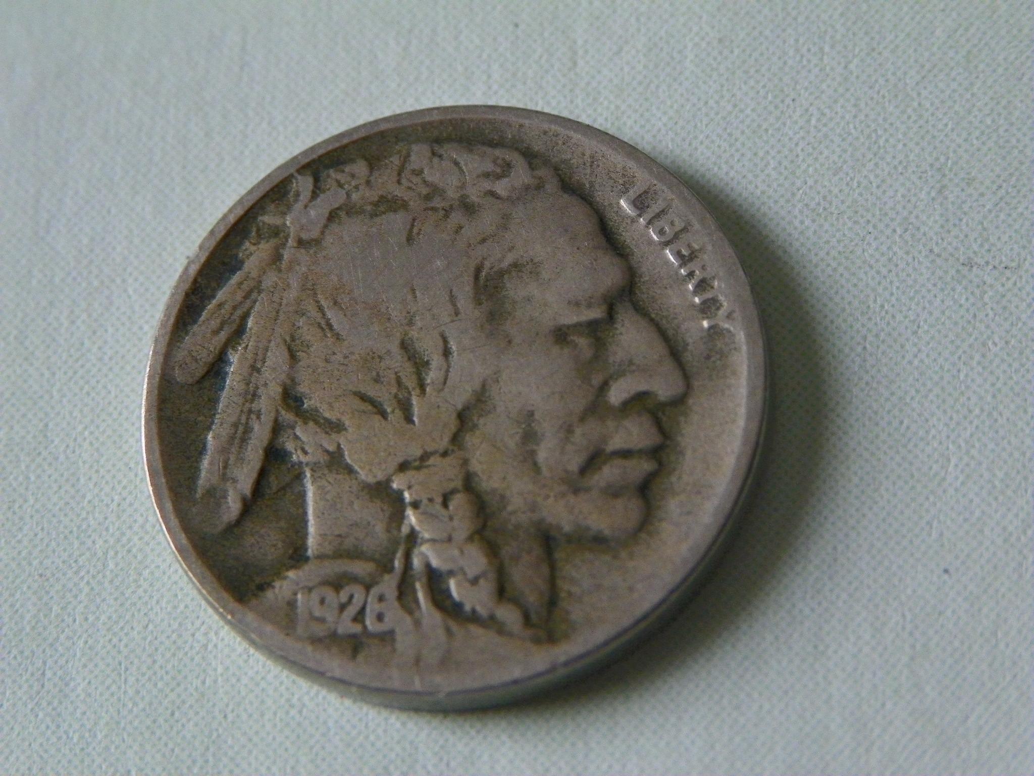 1926-D US Buffalo Nickel Five-Cent Piece