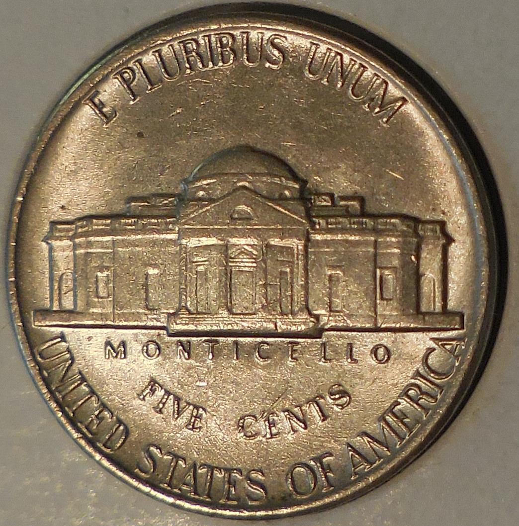 1981-P Jefferson Nickel Strongly Misaligned Die Error