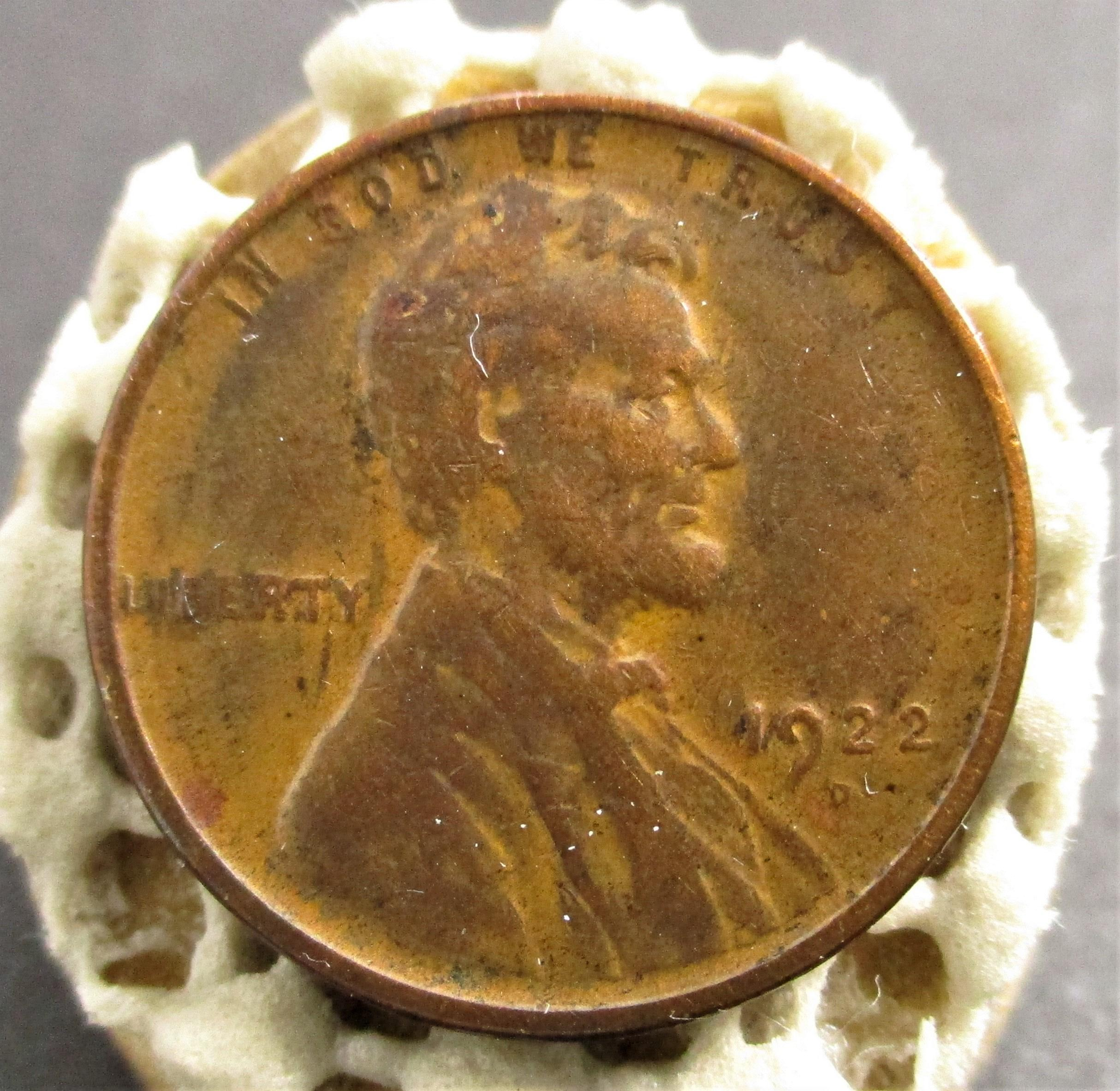 1922 WEAK D LINCOLN WHEAT PENNY