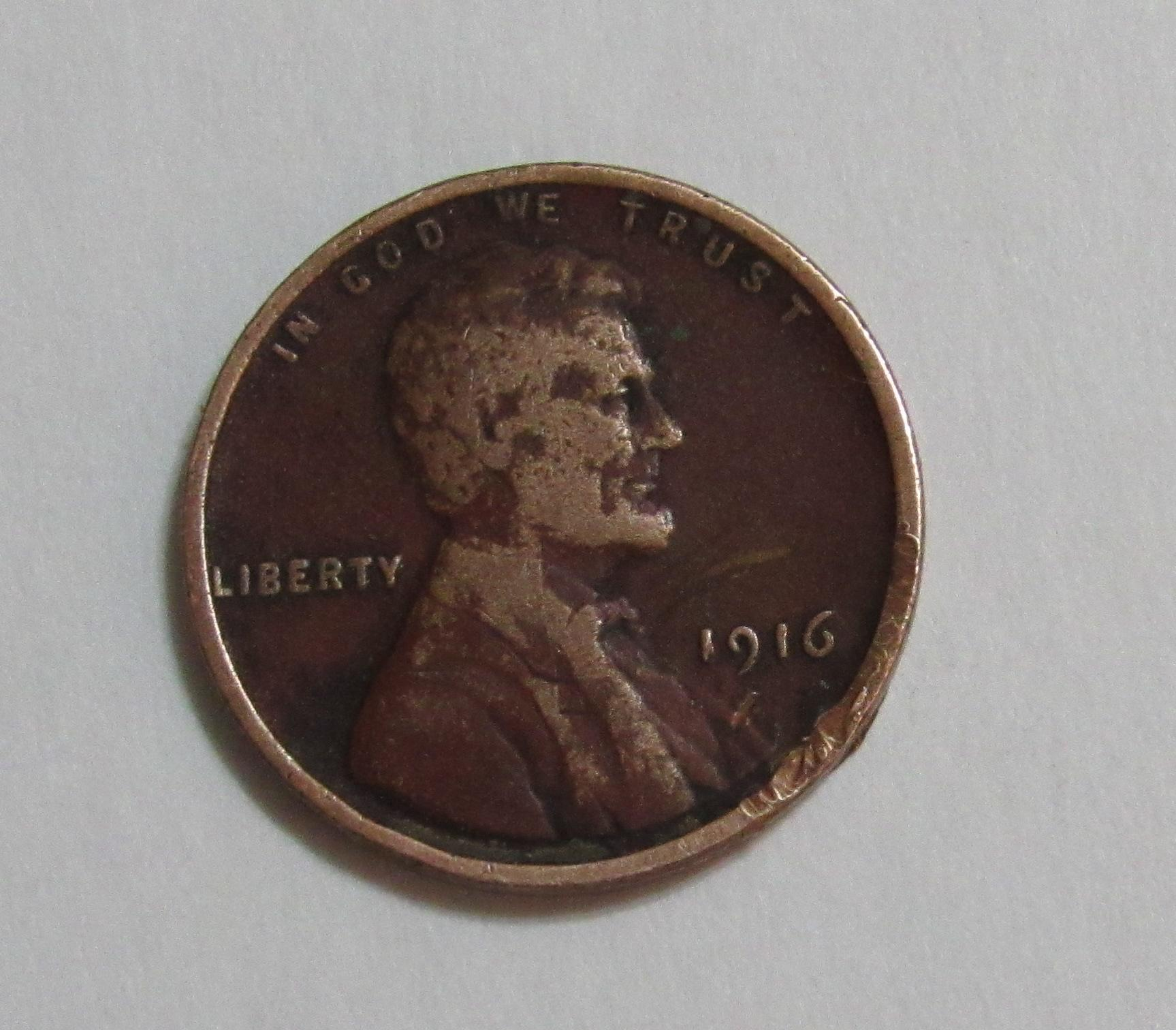 1916 1 Cent Lincoln Wheat